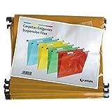 Grafoplas - Caja 50 Unidades Carpeta Colgante a4 Kraft con Visor Superior Corto 65mm Efecto Lupa -
