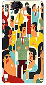 Timpax Protective Hard Back Case Cover With Easy access to all ports Printed Design : People at a party.Precisely Design For : Micromax A350 Canvas Knight