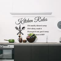 Hot Popular Kitchen Rules English Waterproof Wall Sticker by Himanjie