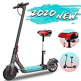 GeekMe Elektroroller abziehbarer Sitz 8,5 Zoll Reifen City Scooter Bis zu 25 km / h | Faltbar Elektroscooter mit LCD-Anzeige| 7, 5A Lithium Akku | Maximale Belastung 120 kg Für Erwachsene