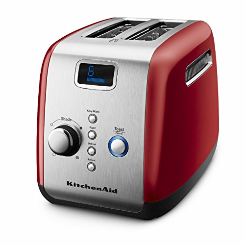 Kitchenaid 5kmt223ger 2 Slot Automatic/pop Up Toaster  (empire Red)