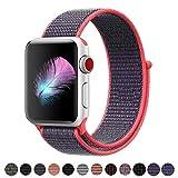 HILIMNY Für Apple Watch Armband 38MM, Weiches, Ersatz für iwatch Series 3, Series 2, Series 1 (Electric Pink, 38MM)