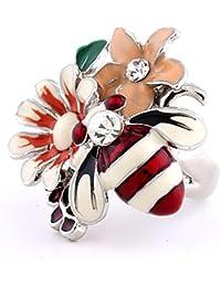 Anillo lindo de moda de la abeja del diamante
