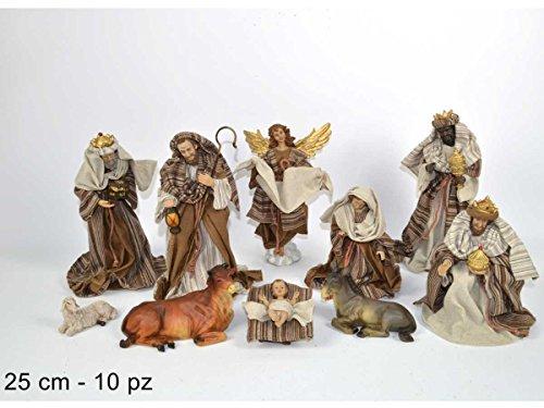 HDHOME Krippe Krippenfiguren Set '10Stück 25cm, Krippenfiguren Hohe qualita' mit Kleidung Stoff