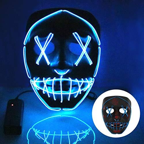 Halloween Kostüm Party Kinder - T98 Halloween Maske, LED Maske mit