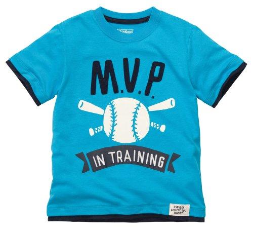 OshKosh B'Gosh T-Shirt Größe 92/98 Blau für Jungen Baseball US Size 3 t Sommer (T-shirt Oshkosh Kinder)