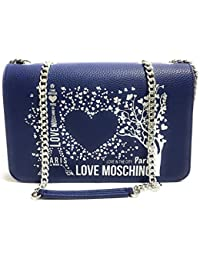 43d7ea7ad9 Moschino BORSA LOVE TRACOLLA IN ECOPELLE MOD. CITY LOVERS PARIS COLORE BLU  DONNA BS19MO41