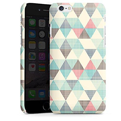 Apple iPhone 6 Silikon Hülle Case Schutzhülle Dreiecke Vintage Muster Pastell Premium Case matt