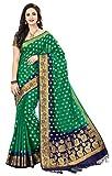 M.S. Retail Women's Cotton Silk Saree (AC-RJ-2005_1_Green_0)