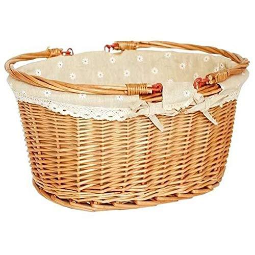 Chuan Rong Rattan - Picknick - Korb/mit Korb/sammeln Korb/präsentkorb/warenkorb/Geschenk verpacken Korb/handkorb/pastoralen geflochtene Korb (Warenkorb-geschenk-korb)
