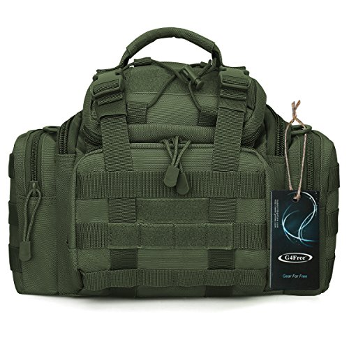 G4Free Sport Outdoor Travel Waist Pack Tactical Assault Gear Sling Pack Molle Modular Deployment Range Bag Wandern Fanny Pack Tactical Bag Angeln behandelt, Pack, grün -