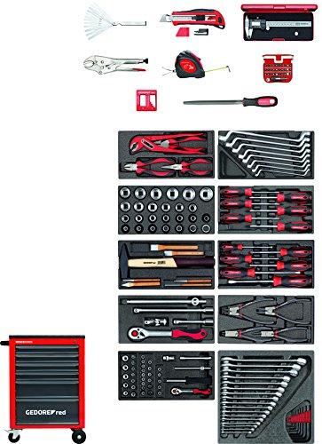 GEDORE red R21560002 Werkzeugsatz im Werkstattwagen MECHANIC 166-teilig
