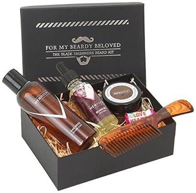 Men Rock Beard Care and Moustache Care Gift Set