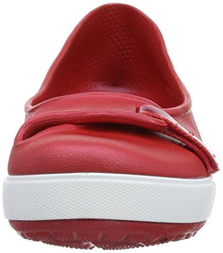 Crocs Cbnd2.5Flat - Ballerina da donna Rosso (Pepper/Bluebell)