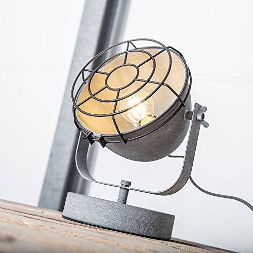 Vintage lampada da tavolo im Industrial Decapato, 1X E27max. 40W, Metallo, Grigio Cemento