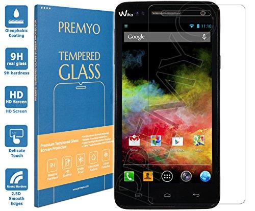 PREMYO Panzerglas Schutzglas Bildschirmschutzfolie Folie kompatibel für Wiko Rainbow Blasenfrei HD-Klar 9H 2,5D Gegen Kratzer Fingerabdrücke