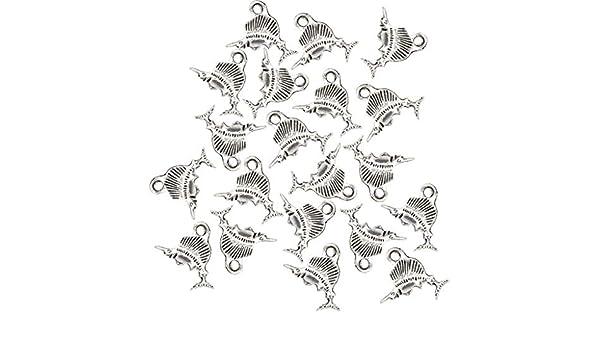 40 Stück Silber Tibetischen Meer Tierform Charms Anhänger Finden Bead