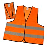 Warnwesten 4er-Set nach EN ISO 20471 Zertifiziert Warnweste Auto Neon-Orange Einheitsgröße XXL mit Reflektorstreifen