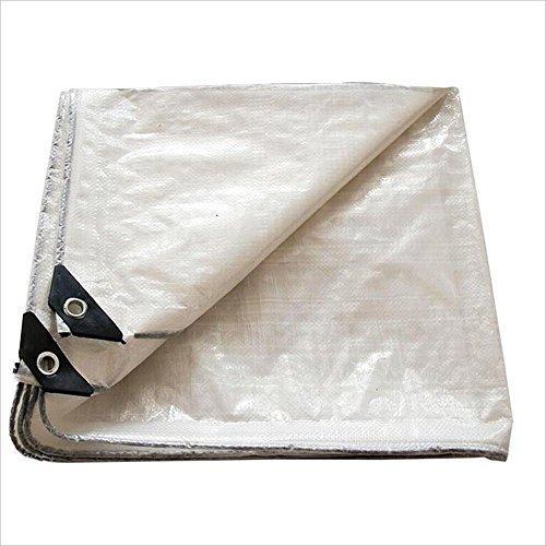 Bâche 120g / m² Couverture de bâche blanc PE imperméable à l'eau (Couleur : Blanc, taille : 8mx12m)