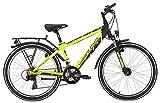 Kinderfahrrad 24 Zoll gelb - Yazoo Devil 2.4 boy Jugendrad - Shimano Schaltung 21 Gänge, Licht, Gepäckträger