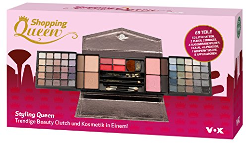 Shopping Queen Style Queen: Beauty Clutch und Kosmetik in einem, 64 Stück