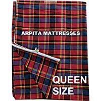 Generic Cotton Mattress Cover Protector for Queen Size Bed with Zip (Multicolour, 72x60x4-inch)