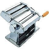 Ekavir Pasta Maker Machine - Stainless Steel Roller For Fresh Pasta & Noodle Hand Crank Cutter