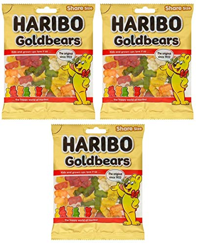 Haribo Goldbears Share Size Jellies 180g Pk of 3