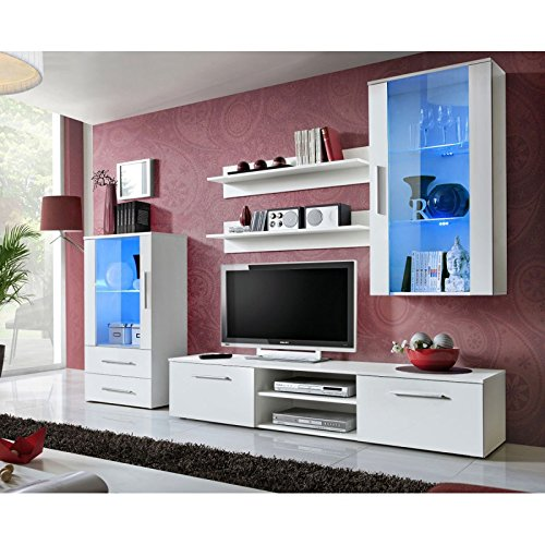 Paris Prix - Ensemble Meuble TV Design galino VIII 250cm Blanc Mat