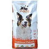 V-Dog Hundefutter Trockenfutter Vegane Flocken, 1er Pack (1 x 15 kg)