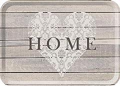 """Idea Regalo - Creative Tops, vassoio, con stampa """"Home"""", colore: grigio, taglia L"""