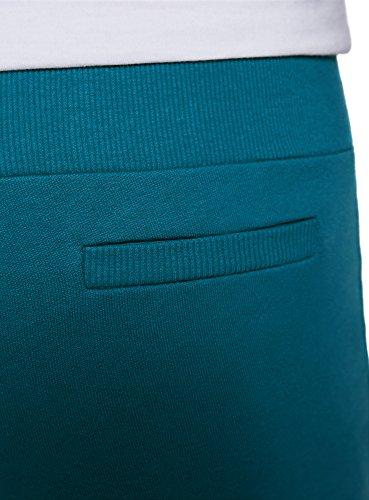 oodji Ultra Damen Jersey-Hose im Sport-Stil Grün (6C00N)
