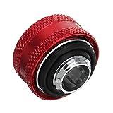 Toolcool Wishfive G1/4filo raccordi raccordo a compressione tubo od 16mm dura rigida tubo prolunga per PC raffreddamento ad acqua–rosso