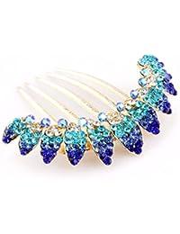 Yazilind joyeria nupcial elegante Rhinestone pelo clip peinar partido de la boda pernos de pelo accesorios para las mujeres las ninas