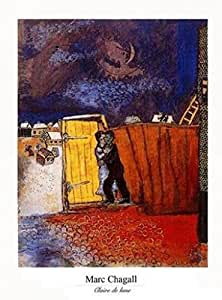 Posters: Marc Chagall Poster Reproduction - Claire De Lune (30 x 24 cm)