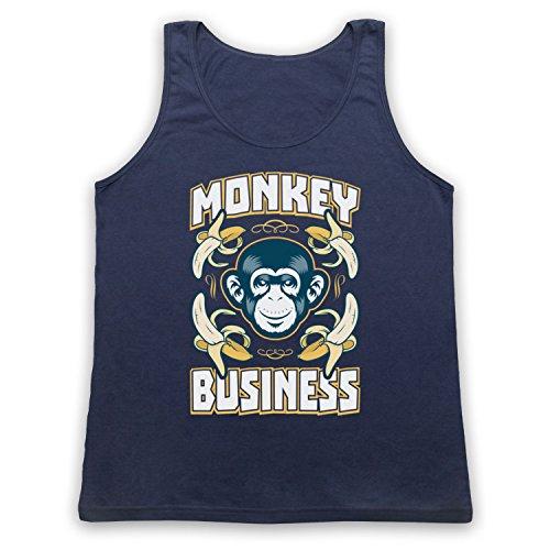 Monkey Business Funny Tank-Top Weste Ultramarinblau