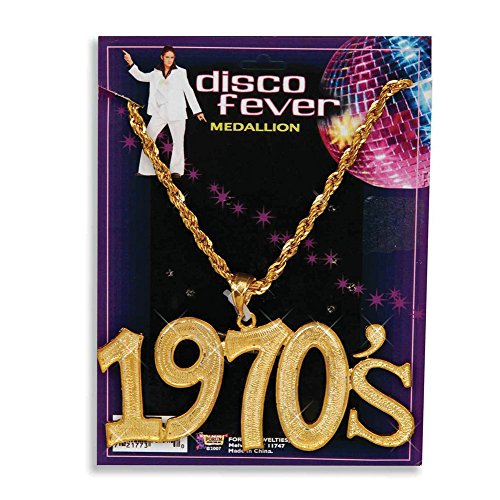 1970's Disco Fever Medallion on Chain for adults.