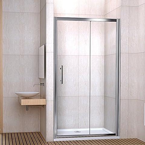 1500mm Shower Enclosure Sliding Door 6mm Toughened Glass Reversible Design NEXT WORKING DAY