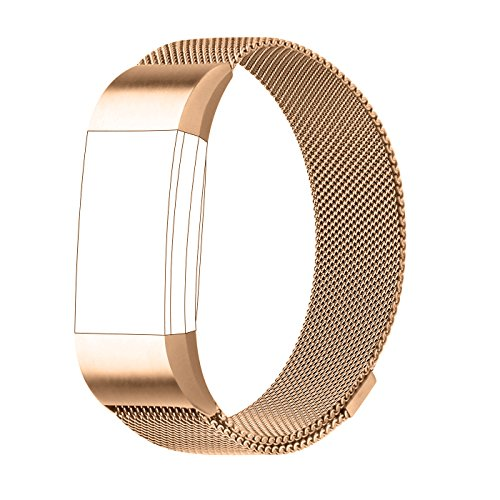 Fitbit charge 2 replacement strap gold stainless stell