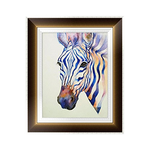 logres Zebra 5D Diamant Stickerei Gemälde Kreuzstich DIY Craft Home Office Decor (Strass Western Zebra)