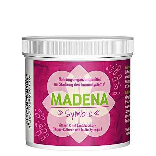 MADENA Symbio | 50 oder 100 Kapseln | Vitamin C | Lactobacillus-Bifidus-Kulturen