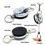 Sams strapazierfähige, einziehbare Spule, Stahlschnur für Schlüsselanhänger oder Angel-Werkzeuge A079