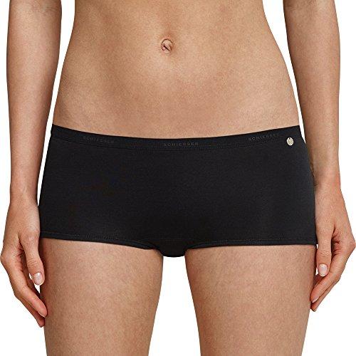 Schiesser Damen Short (3er Pack) 95/5 Panties, (schwarz 000), 36 (erPack 3) Damen 5