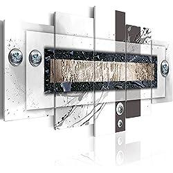 Cuadro en Lienzo 200x100 cm! 5 partes - Grande Formato - Impresion en calidad fotografica - Cuadro en lienzo tejido-no tejido - Abstraccion 020101-157 200x100 cm B&D XXL