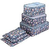 Set da 6 Sistema di Cubo di Viaggio, INTVN Organizzatori da Viaggio Cubi di Imballaggio Abbigliamento Calzature Organizzatori