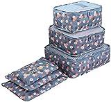 Set da 6 Sistema di Cubo di Viaggio, INTVN Organizzatori da Viaggio Cubi di Imballaggio Abbigliamento Calzature Organizzatori Sacchi di Stoccaggio Set