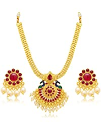 Sukkhi Jewellery Sets for Women (Golden) (3186NGLDPP950)