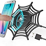 GreatCool Anti-Rutsch-Spinnennetz Wireless Charger,Induktive Ladegerät qi Charging Fast Ladestation Induktionsladegerät 10W 5W für Apple iPhone XS Max Xr X 8 Plus Samsung Galaxy S9 S8 S7 S6 Edge