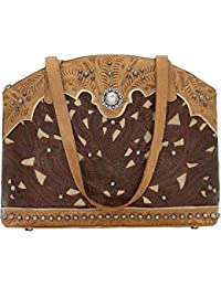 ac1474dd7ca9 American West Leather Tote- Multi Compartment Carry on Bag Key Foab Purse  Charm