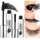 GUJHUI 4D Mascara Schwarz Natürliche Lange Wimperntusche Intensive Lange Natürliche Wimpern Wasserdicht